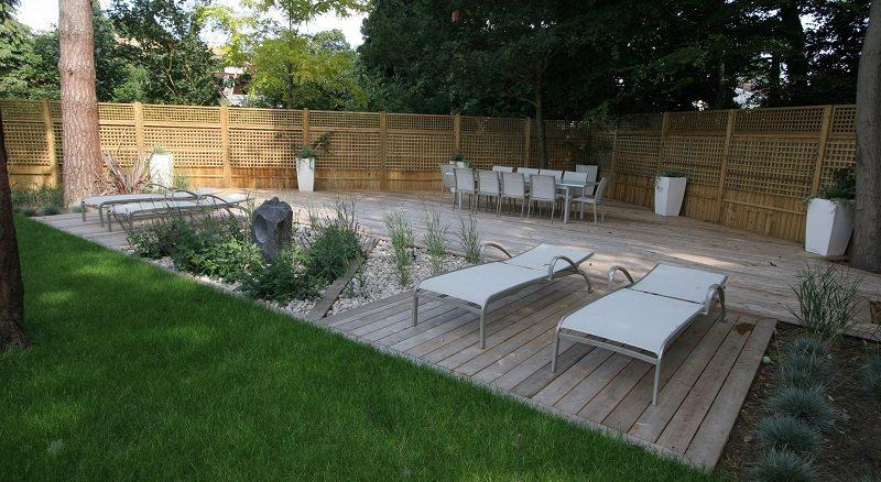 Large garden redesign in surrey for Redesign your garden