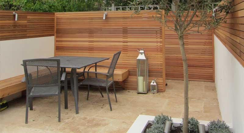 Modern garden redesign in south west london for Garden redesign