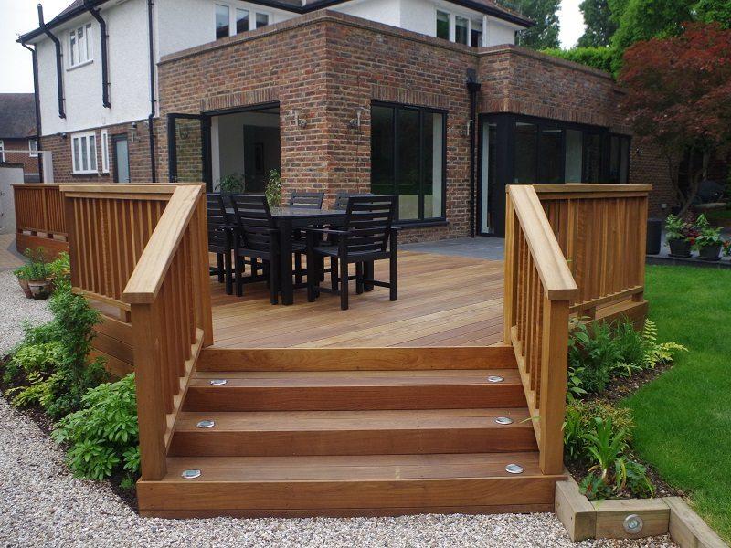 Garden decking installation timberwork services for Garden decking examples